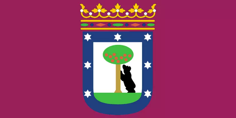 Flag of the city of Madrid - el oso y el madroño